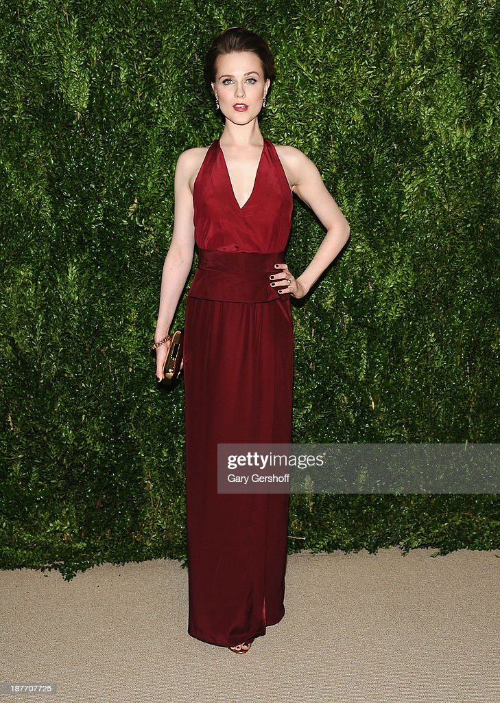 Actress <a gi-track='captionPersonalityLinkClicked' href=/galleries/search?phrase=Evan+Rachel+Wood&family=editorial&specificpeople=203074 ng-click='$event.stopPropagation()'>Evan Rachel Wood</a> attends The CFDA and Vogue 2013 Fashion Fund Finalists Celebration at Spring Studios on November 11, 2013 in New York City.