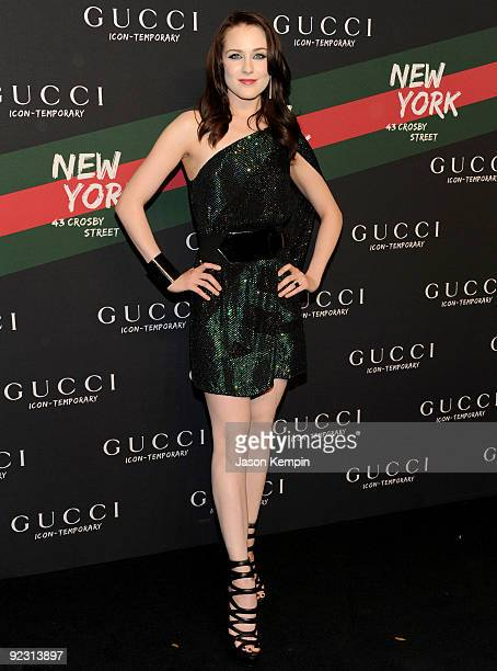 Actress Evan Rachel Wood attends the Gucci IconTemporary Flash Sneaker Store launch at the Gucci IconTemporary Flash Sneaker Store on October 23 2009...