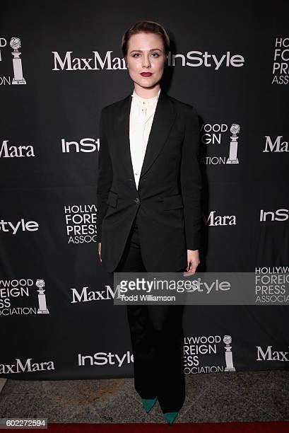Actress Evan Rachel Wood attends the Hollywood Foreign Press Association and InStyle's annual celebration of the Toronto International Film Festival...