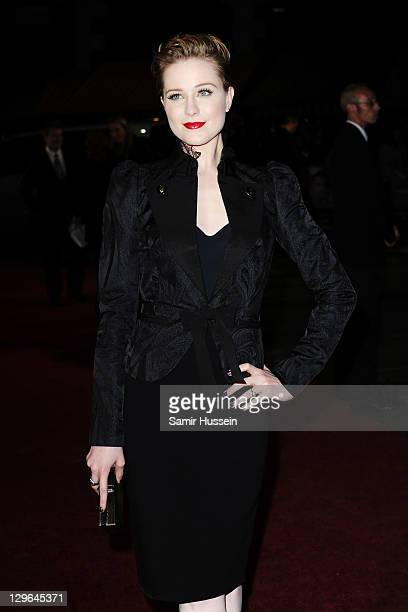 Actress Evan Rachel Wood attends 'The Ides of March' premiere during the 55th BFI London Film Festival at Odeon West End on October 19 2011 in London...