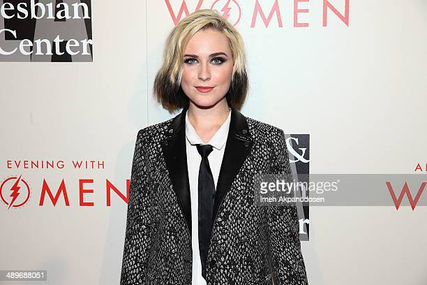 Actress Evan Rachel Wood attends The LA Gay Lesbian Center's 2014 An Evening With Women at The Beverly Hilton Hotel on May 10 2014 in Beverly Hills...