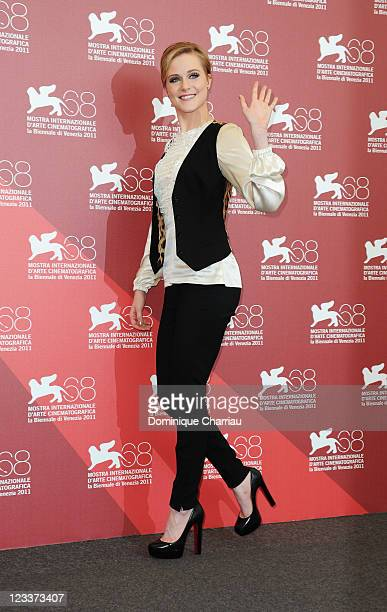 Actress Evan Rachel Wood attends the 'Mildred Pierce' Photocall during the 68th Venice International Film Festival at Palazzo del Casino on September...