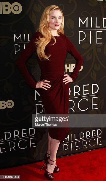 Actress Evan Rachel Wood attends the 'Mildred Pierce' premiere at the Ziegfeld Theatre on March 21 2011 in New York City