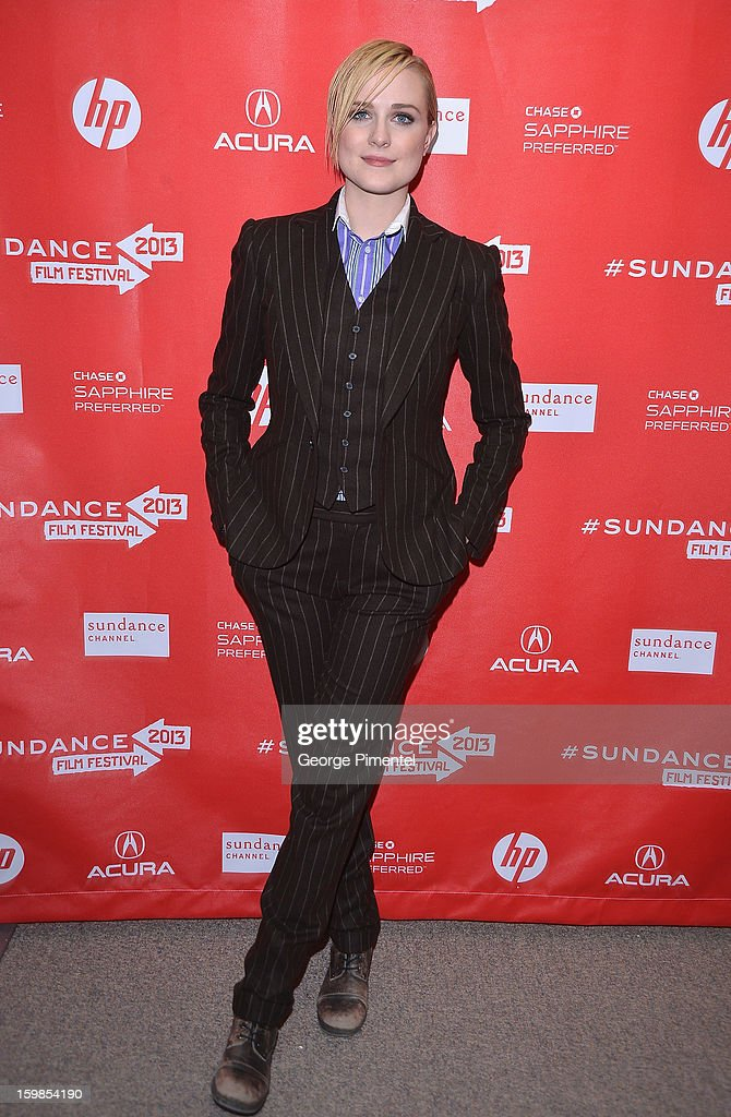 Actress Evan Rachel Wood attends 'The Necessary Death Of Charlie Countryman' premiere at Eccles Center Theatre during the 2013 Sundance Film Festival...