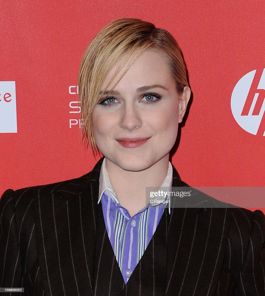 Actress <a gi-track='captionPersonalityLinkClicked' href=/galleries/search?phrase=Evan+Rachel+Wood&family=editorial&specificpeople=203074 ng-click='$event.stopPropagation()'>Evan Rachel Wood</a> attends 'The Necessary Death Of Charlie Countryman' premiere at Eccles Center Theatre during the 2013 Sundance Film Festival on January 21, 2013 in Park City, Utah.