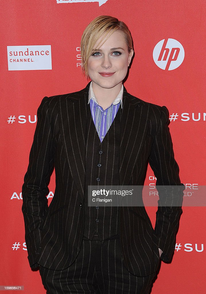Actress Evan Rachel Wood attends 'The Necessary Death Of Charlie Countryman' premiere at Eccles Center Theatre during the 2013 Sundance Film Festival on January 21, 2013 in Park City, Utah.