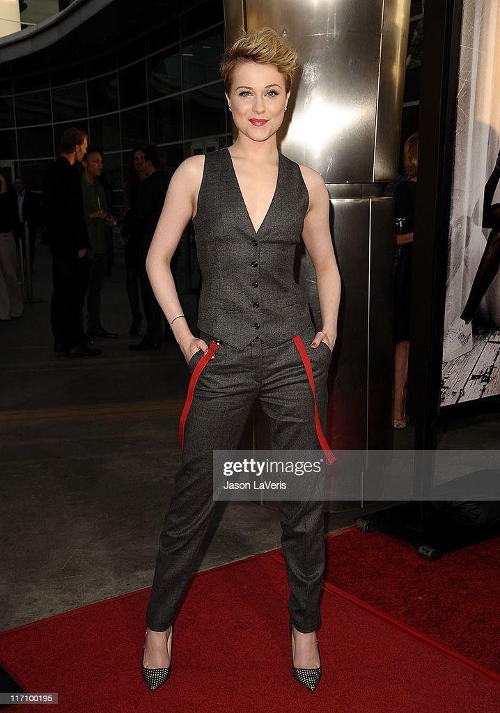 Actress Evan Rachel Wood attends the premiere of HBO's 'True Blood' at ArcLight Cinemas Cinerama Dome on June 21, 2011 in Hollywood, California.