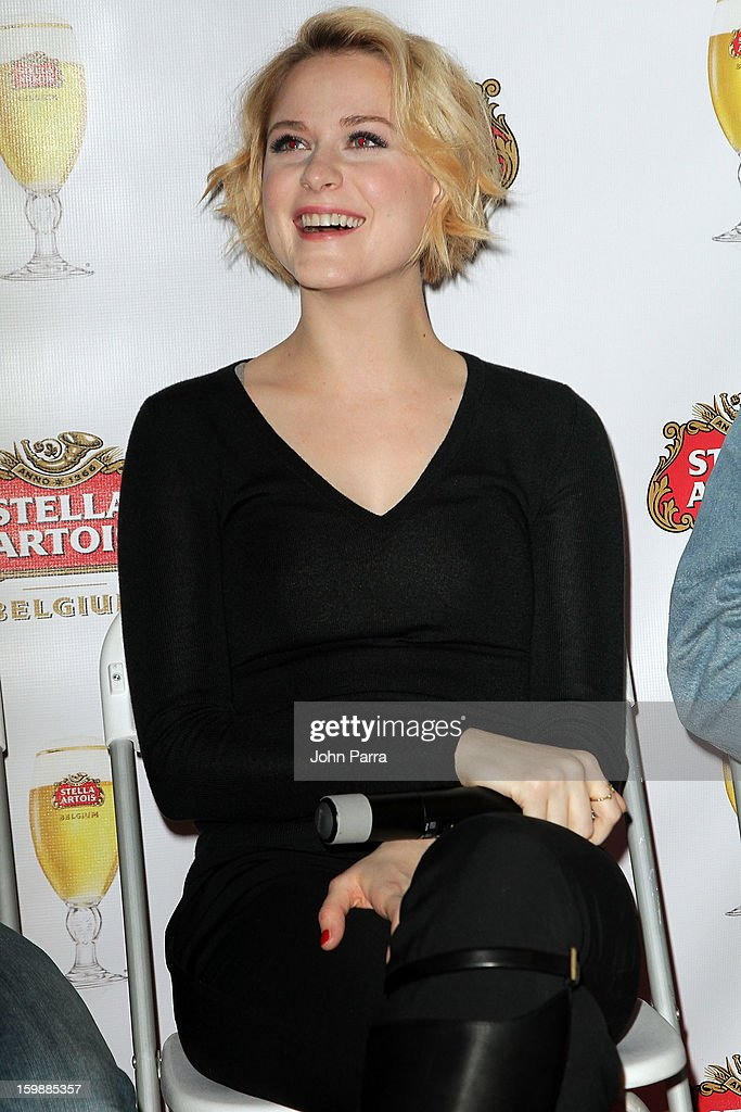 Actress Evan Rachel Wood attends the Stella Artois hosted Press Junket for The Necessary Death of Charlie Countryman on January 22, 2013 in Park City, Utah.