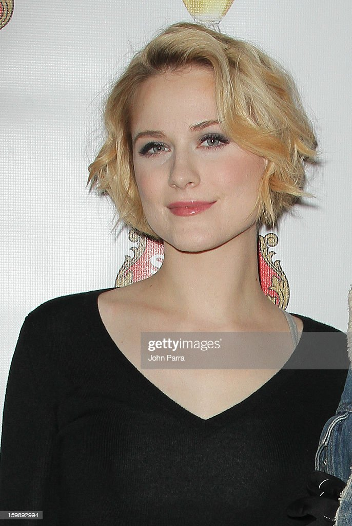 Actress <a gi-track='captionPersonalityLinkClicked' href=/galleries/search?phrase=Evan+Rachel+Wood&family=editorial&specificpeople=203074 ng-click='$event.stopPropagation()'>Evan Rachel Wood</a> attends the Stella Artois hosted Press Junket for 'The Neccessary Death of Charlie Countryman' on January 22, 2013 in Park City, Utah.