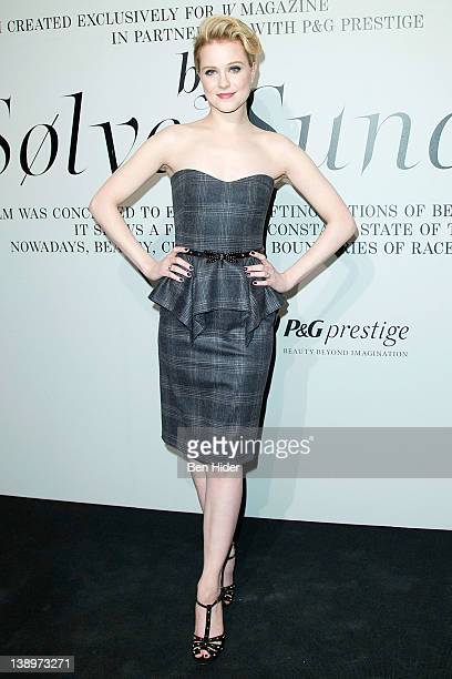 Actress Evan Rachel Wood attends the 'The Ever Changing Face of Beauty' W Magazine opening reception at the Park Avenue Armory on February 14 2012 in...