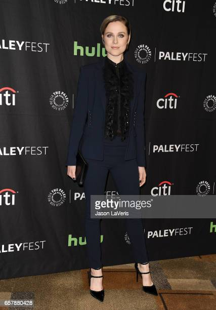 Actress Evan Rachel Wood attends the 'Westworld' event at the Paley Center for Media's 34th annual PaleyFest at Dolby Theatre on March 25 2017 in...