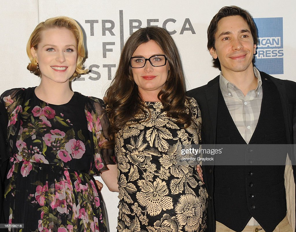 Actress Evan Rachel Wood, Director Kat Coiro, Actor Justin Long attend the 'A Case Of You' World Premiere - 2013 Tribeca Film Festival at BMCC Tribeca PAC on April 21, 2013 in New York City.