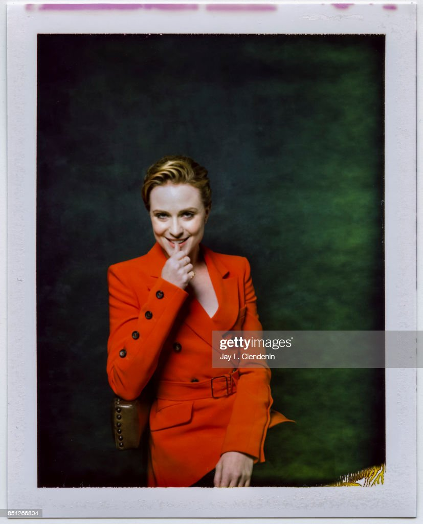 Actress Evan Rachel Wood, from the film 'A Worthy Compainion,' is photographed on polaroid film at the L.A. Times HQ at the 42nd Toronto International Film Festival, in Toronto, Ontario, Canada, on September 10, 2017.