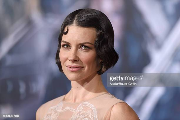 Actress Evangeline Lilly arrives at the Los Angeles premiere of 'The Hobbit The Battle Of The Five Armies' at Dolby Theatre on December 9 2014 in...