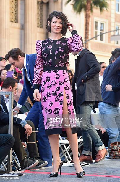 Actress Evangeline Lilly attends a ceremony honoring Sir Peter Jackson with the 2538th Star on The Hollywood Walk of Fame on December 8 2014 in...
