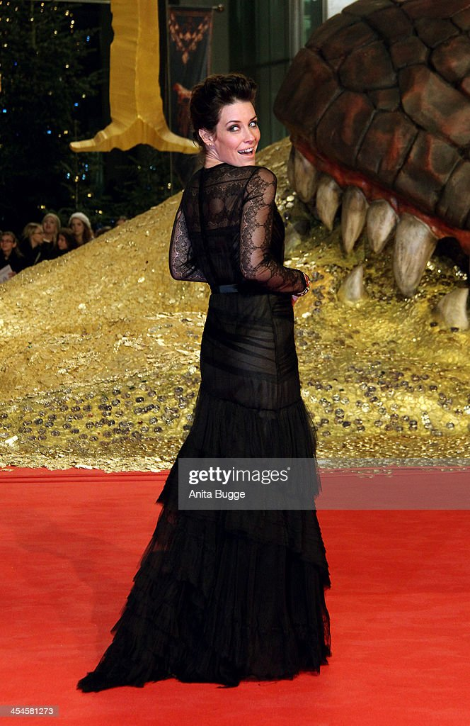 Actress Evangeline Lilly attends the 'The Hobbit: The Desolation of Smaug' European Premiere at Cinestar on December 9, 2013 in Berlin, Germany.
