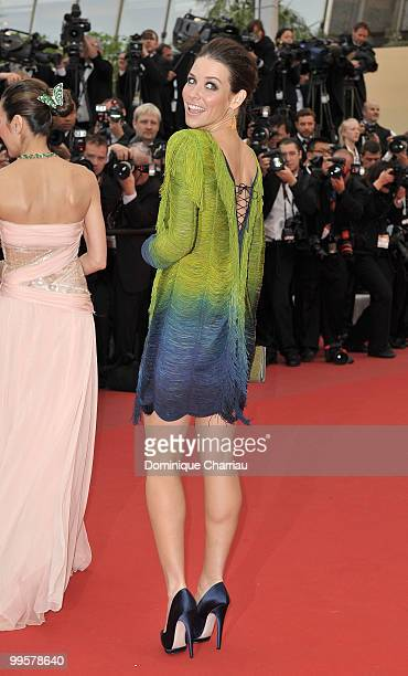 Actress Evangeline Lilly attends the 'You Will Meet A Tall Dark Stranger' Premiere held at the Palais des Festivals during the 63rd Annual...