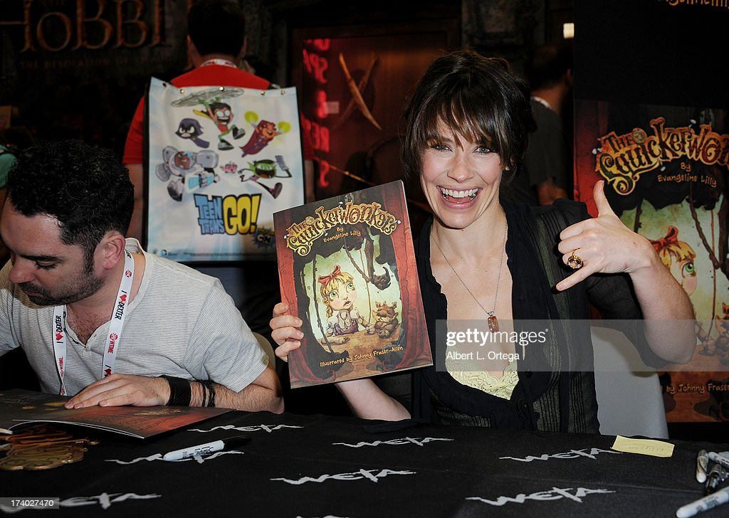 Actress Evangeline Lilly during Comic-Con International at San Diego Convention Center on July 19, 2013 in San Diego, California.