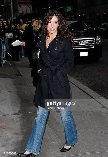 Actress Evangeline Lilly visits 'Late Show with David Letterman' at the Ed Sullivan Theater on January 27 2009 in New York City