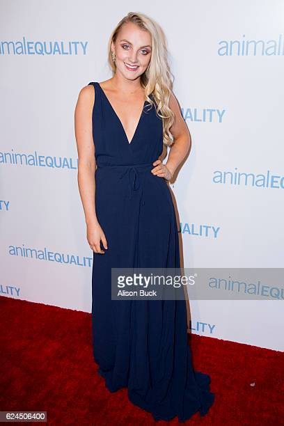 Actress Evanna Lynch attends Animal Equality 10th Anniversary Celebration Honoring Moby at At The P on November 19 2016 in Los Angeles California