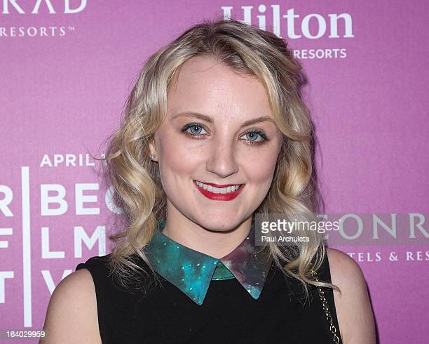 Actress Evanna Lynch attends the 5th annual Tribeca Film Festival 2013 LA reception at The Beverly Hilton Hotel on March 18 2013 in Beverly Hills...