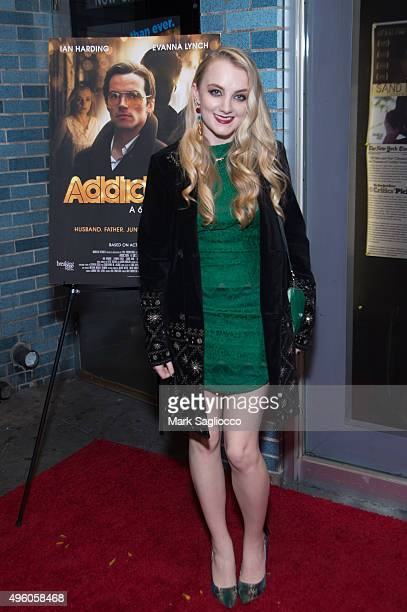 Actress Evanna Lynch attends the 'Addiction A 60's Love Story' New York Premiere at Cinema Village on November 6 2015 in New York City