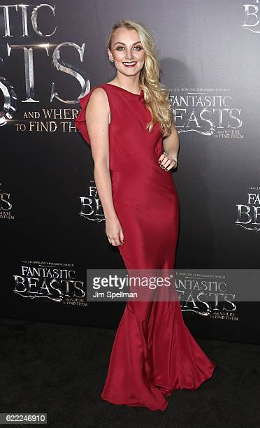 Actress Evanna Lynch attends the 'Fantastic Beasts And Where To Find Them' world premiere at Alice Tully Hall Lincoln Center on November 10 2016 in...