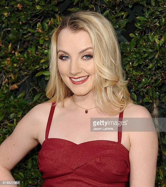 Actress Evanna Lynch attends the opening of 'The Wizarding World of Harry Potter' at Universal Studios Hollywood on April 5 2016 in Universal City...