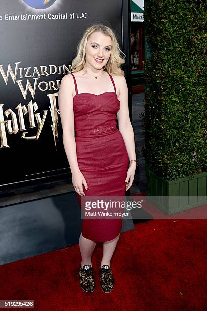 Actress Evanna Lynch attends Universal Studios' 'Wizarding World of Harry Potter Opening' at Universal Studios Hollywood on April 5 2016 in Universal...