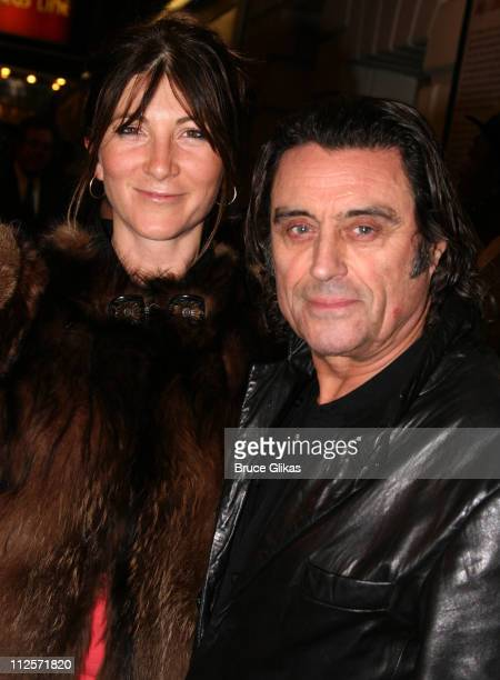 Actress Eve Best and Actor Ian McShane pose at The Arrivals on Opening Night of Tom Stoppard's play 'Rock 'n' Roll' on Broadway at The Jacobs Theater...