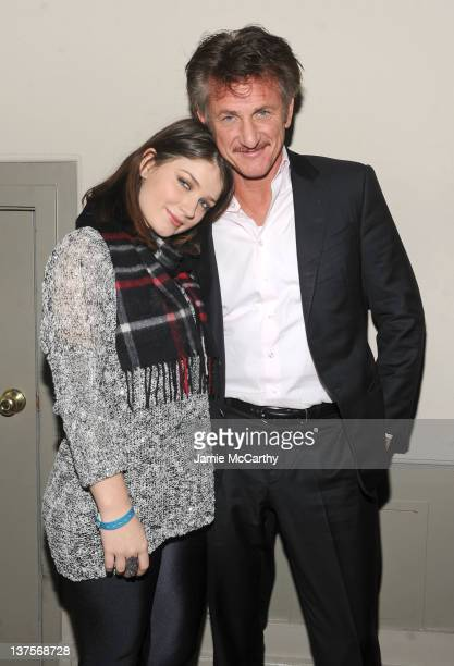 Actress Eve Hewson and actor Sean Penn attends Day 3 at Grey Goose Blue Door on January 22 2012 in Park City Utah