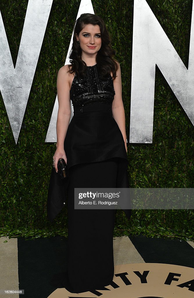Actress Eve Hewson arrives at the 2013 Vanity Fair Oscar Party hosted by Graydon Carter at Sunset Tower on February 24, 2013 in West Hollywood, California.