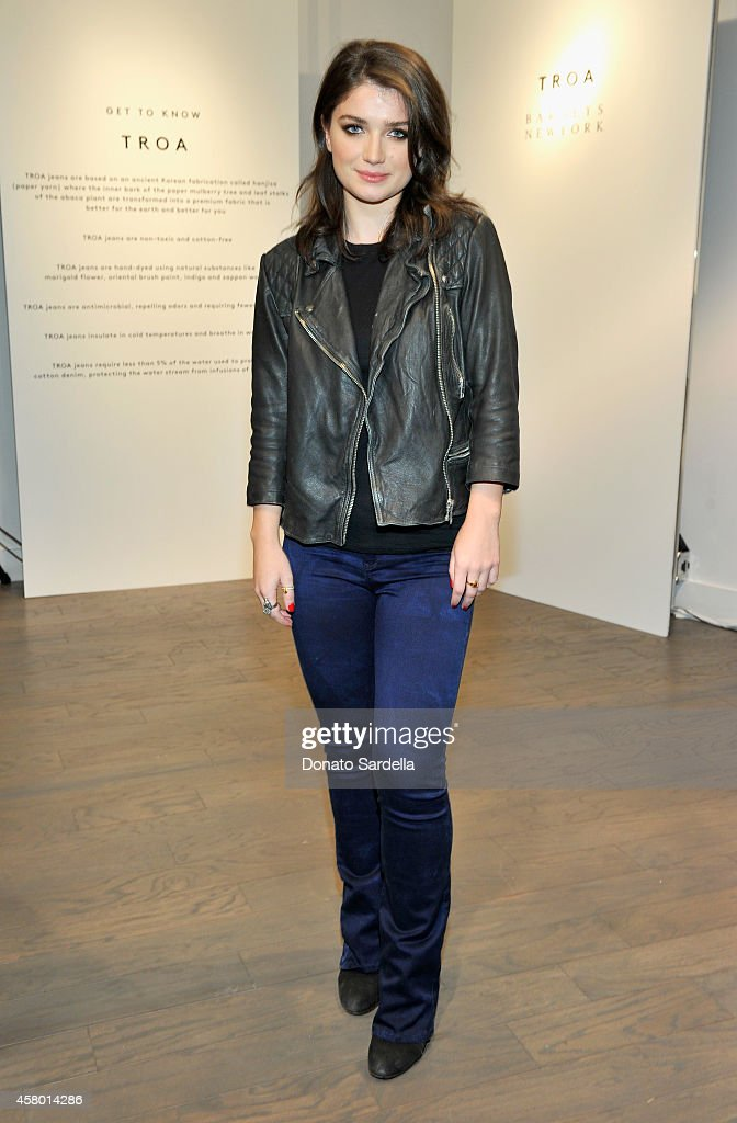 Actress Eve Hewson attends the TROA denim event at Barneys in Los Angeles on October 28 2014 in Los Angeles California