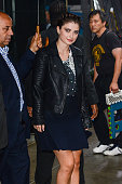 Actress Eve Hewson leaves the 'Good Morning America' taping at the ABC Times Square Studios on August 13 2014 in New York City