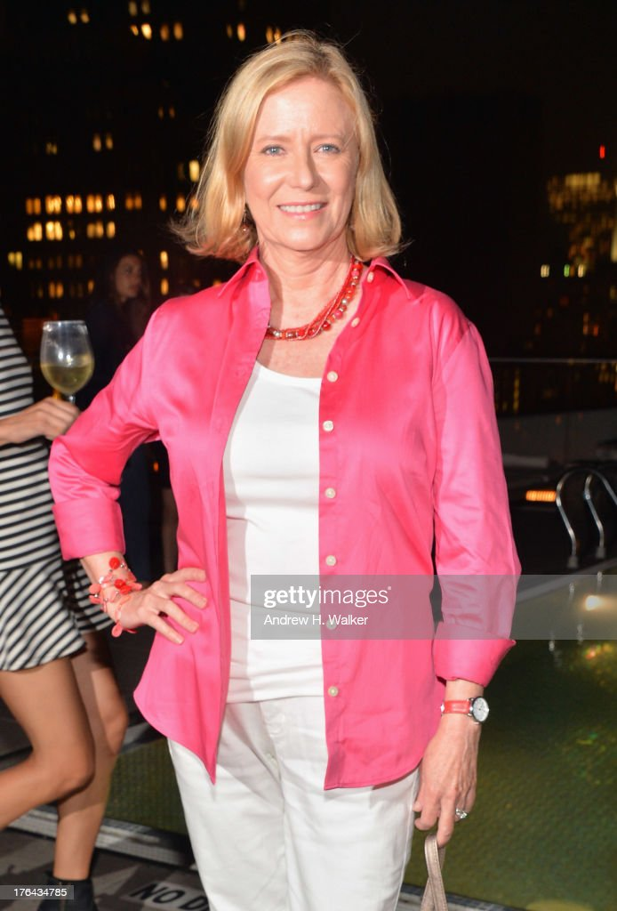 Actress <a gi-track='captionPersonalityLinkClicked' href=/galleries/search?phrase=Eve+Plumb&family=editorial&specificpeople=893214 ng-click='$event.stopPropagation()'>Eve Plumb</a> attends the after party for The Cinema Society with Alice and Olivia screening of Sony Pictures Classics' 'Austenland' at Jimmy At The James Hotel on August 12, 2013 in New York City.