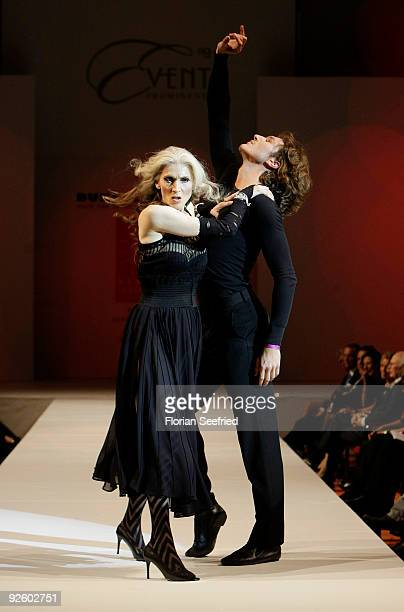 Actress Eveline Hall and musical singer Pepe Munoz dance at the 'Event Prominent 2009' fashion show at the Hotel Grand Elysee on November 1 2009 in...