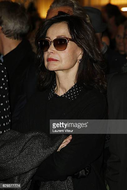 Actress Evelyne Bouix attends the Ceremony of Actor Hugues Quester Actress Catherine Arditi and Manager of Theater Pascale BoeglinRodier decorated on...