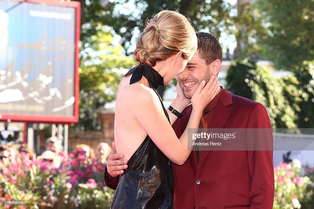 Actress Evelyne Brochu and director <a gi-track='captionPersonalityLinkClicked' href=/galleries/search?phrase=Xavier+Dolan&family=editorial&specificpeople=5948820 ng-click='$event.stopPropagation()'>Xavier Dolan</a> attend 'Tom At The Farm' Premiere during the 70th Venice International Film Festival at the Palazzo del Cinema on September 2, 2013 in Venice, Italy.