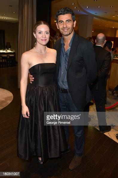 Actress Evelyne Brochu and producer Marc Hamou attend the Birks Diamond Tribute to the year's Women in Film during the 2013 Toronto International...