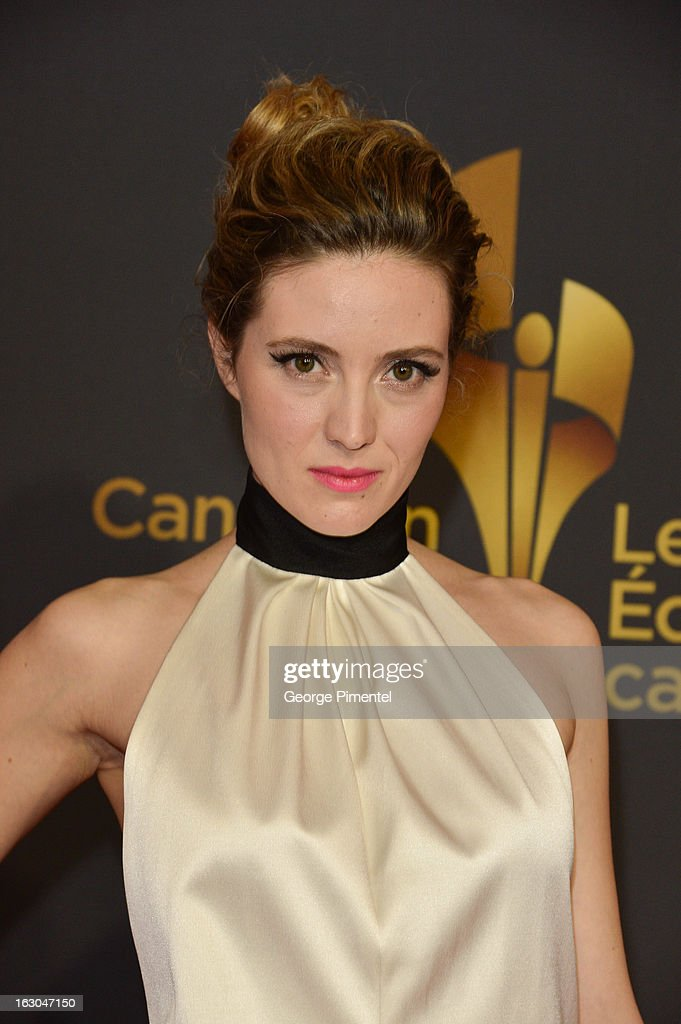 Actress Evelyne Brochu arrives at the Canadian Screen Awards at the Sony Centre for the Performing Arts on March 3, 2013 in Toronto, Canada.