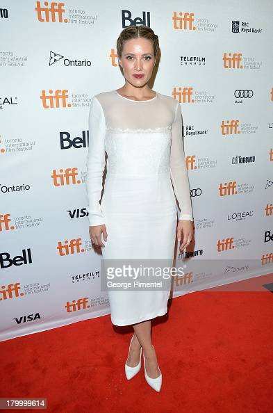 Actress Evelyne Brochu arrives at the 'Dallas Buyers Club' Premiere during the 2013 Toronto International Film Festival held at Princess of Wales...