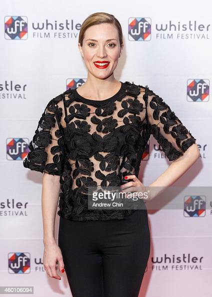 Actress Evelyne Brochu arrives at the world premiere screening of 'Wolves ' at Whistler Conference Centre at Whistler Film Festival on December 6...