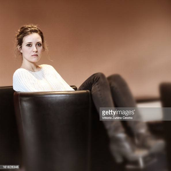 Actress Evelyne Brochu attends the 'Inch'Allah' Portrait Session during the 63rd Berlinale International Film Festival at the Berlinale Palast on...
