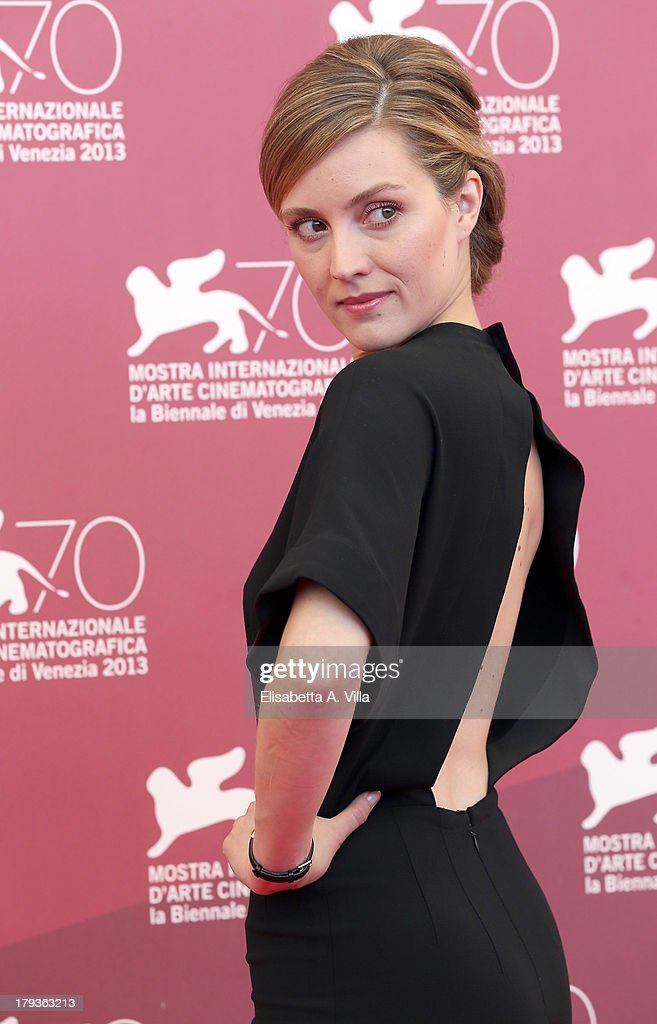 Actress Evelyne Brochu attends the 'Tom And The Farm' Photocall during the 70th Venice International Film Festival at the Palazzo del Casino on...