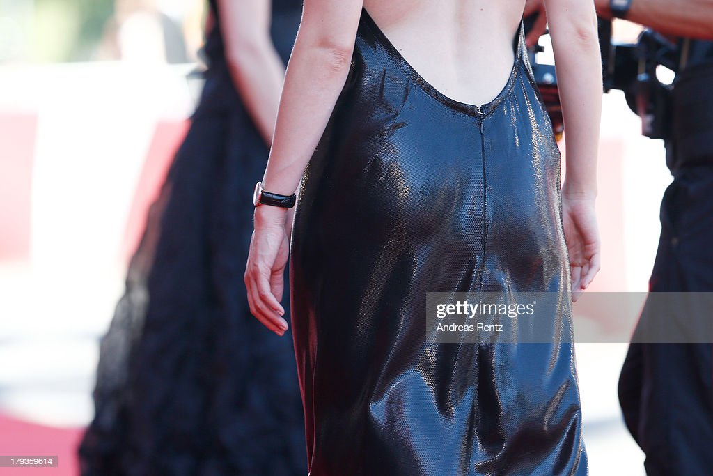 Actress Evelyne Brochu attends 'Tom At The Farm' Premiere during the 70th Venice International Film Festival at the Palazzo del Cinema on September 2...