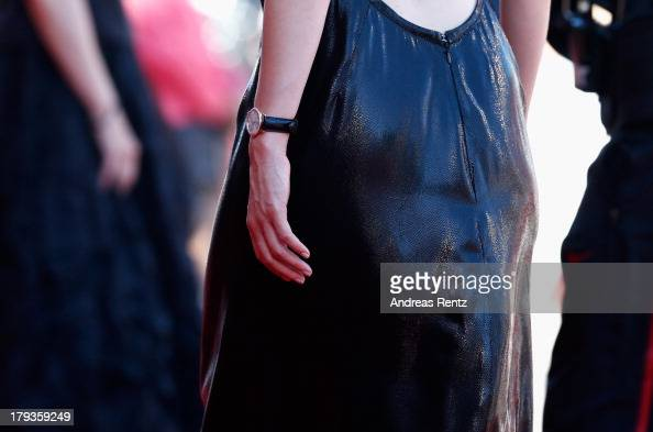 Actress Evelyne Brochu wears a JaegerLeCoultre watch at the 'Tom At The Farm' Premiere during the 70th Venice Film Festival at the Palazzo del Cinema...