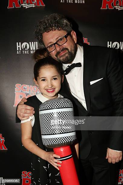 Actress Evie Dolan and theatre director Laurence Connor attend the 'School Of Rock' Tony Award Party at Howl at the Moon on June 12 2016 in New York...