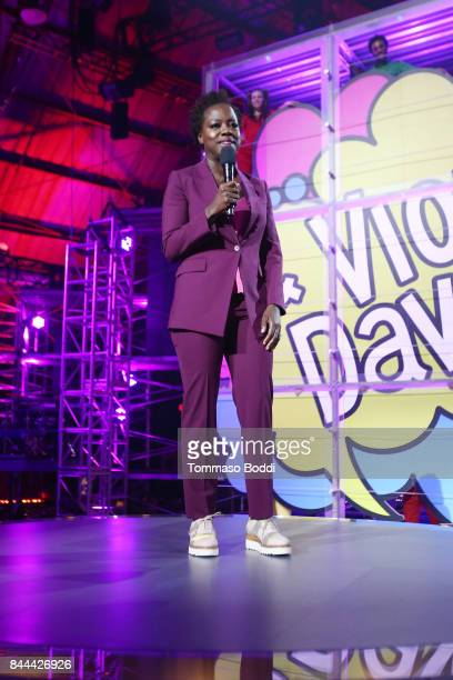 Actress Executive Producer of EIF Presents XQ Super School Live Viola Davis speaks on stage during XQ Super School Live presented by EIF at Barker...