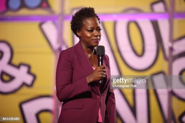 Actress Executive Producer of EIF Presents XQ Super School Live Viola Davis speaks onstage during the XQ Super School Live presented by EIF at Barker...
