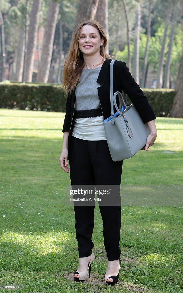 Actress Fabrizia Sacchi attends 'Viaggio Sola' photocall at Villa Borghese on April 17, 2013 in Rome, Italy.